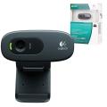 Веб-камера LOGITECH C270, 1/3 Мпикс., микрофон, USB 2.0, черная, регулируемый крепеж