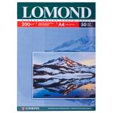 Фотобумага LOMOND для струйной печати А4, 200г/м, 50л., односторонняя, глянцевая (0102020)