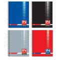 Тетрадь 96 л. BRAUBERG (БРАУБЕРГ), офсет, 60 г/м, клетка, евроспираль, обложка картон+лак «INDAY» («Рабочий день»), 4 вида