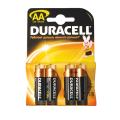 Батарейки DURACELL AA LR6, комплект 4 шт., в блистере, 1.5 В (работают до 10 раз дольше)