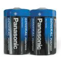 Батарейки PANASONIC D R20 (373), солевые, комплект 2 шт., 1.5 В