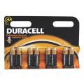 Батарейки DURACELL AA LR6, комплект 8 шт., в блистере, 1,5 В (работают до 10 раз дольше)