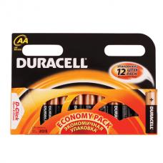 Батарейки DURACELL AA LR6, комплект 12 шт., в блистере, 1.5 В (работают до 10 раз дольше)