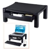 Подставка для принтера или монитора BRAUBERG (БРАУБЕРГ), с 1 полкой и 1 ящиком, 430-340-164 мм