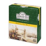 Чай AHMAD «English Tea №1», черный, 100 пакетиков с ярлычками по 2 г