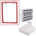 Держатель рамки-POS магнитный, для крепления рамки параллельно поверхности, белый