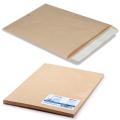Конверт-пакет С4 плоский, КОМПЛЕКТ 25шт, 229х324мм,отр.полоса, крафт-бумага,КОРИЧН, на 90л,161150.25