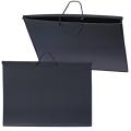 Папка для рисунков и чертежей, А2, 640-470 мм, с ручками, пластиковая, черная