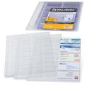 Папки-файлы на 20 визиток А4 BRAUBERG, КОМПЛЕКТ 10шт., перфорированные, плотный ПВХ, 231831
