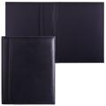 Папка адресная из натуральной кожи, без надписи, 320-250-10 мм, черная