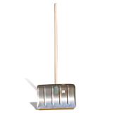 Лопата снегоуборочная алюминиевая, 50-33 см, высота 130 см, усиленная жесткость