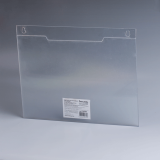 Подставка для рекламных материалов BRAUBERG (БРАУБЕРГ), А4, горизонтальная, 297-210 мм, настенная