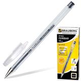 Ручка гелевая BRAUBERG Jet, корпус прозрачный, узел 0,5мм, линия 0,35мм, черная, 141018