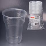 Одноразовые стаканы ЛАЙМА, комплект 20 шт., пластиковые, 0,5 л, прозрачные, ПП, холодное/горячее