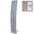 Стойка для рекламных материалов напольная, без лотков, ПАРУС-1, 1600-300-360 мм, хром