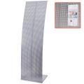 Стойка для рекламных материалов напольная, без лотков, ПАРУС-2, 1600-455-360 мм, хром