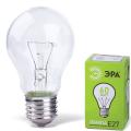 Лампа накаливания ЭРА, 60 Вт, грушевидная, прозрачная, колба d=60 мм, цоколь Е27