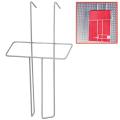 Лоток навесной для стоек ПАРУС, формат А5, 260-158-30 мм, проволочный, хром