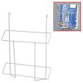 Лоток навесной для стоек ПАРУС, формат А4, 300-225-40 мм, проволочный, хром