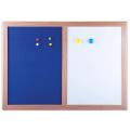 Доска магнитно-маркерная BRAUBERG (БРАУБЕРГ), с текстильным покрытием, для объявлений А3, 342-484 мм, синяя/белая, ГАРАНТИЯ 10 ЛЕТ