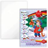Белый картон, А3, BRAUBERG «Kids Series» (БРАУБЕРГ «Детская серия»), МЕЛОВАННЫЙ, 8 л., «В лесу»