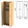 Шкаф для одежды «Монолит», 740-390-2050 мм, цвет бук бавария, ШМ49.1