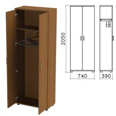 Шкаф для одежды «Монолит», 740-390-2050 мм, цвет орех гварнери, ШМ49.3