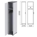 Шкаф для одежды «Монолит», 370-520-2050 мм, цвет серый, ШМ52.11
