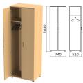 Шкаф для одежды «Монолит», 740-520-2050 мм, цвет бук бавария, ШМ50.1