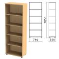 Шкаф (стеллаж) «Монолит», 740-390-2050 мм, 4 полки, цвет бук бавария, ШМ44.1