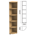 Шкаф (стеллаж) угловой «Монолит», 390-390-2050 мм, 4 полки, цвет бук бавария