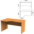 Стол письменный эргономичный «Фея», 1400-900-750 мм, левый, цвет орех милан, СФ07.5