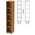 Шкаф (стеллаж) «Фея», 370-370-2000 мм, 4 полки, цвет орех милан, КФ15.5