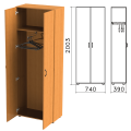Шкаф для одежды «Фея», 740-390-2000 мм, цвет орех милан, ШФ17.5