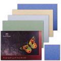 Папка для пастели/планшет А2 420*594мм, 20л. вн.блок тонир.бумага 200г/м2 4цв, тв.подл,Бабочка,ПБ/А2
