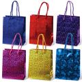 Пакет подарочный ламинированный, 11-14-6 см, голографический, цвет ассорти