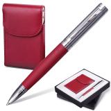 "Набор GALANT ""Prestige Collection"": ручка, визитница, бордовый, подар.кор., 141373"