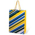Пакет подарочный ламинированный, 22-31-9 см, геометрия, ассорти