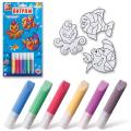 Набор для творчества ЛУЧ, краски по стеклу «Витраж» с декоративными подвесками «Морская сказка»