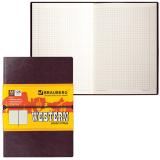 Бизнес-тетрадь BRAUBERG (БРАУБЕРГ) А5, 148-218 мм, «WESTERN» («Вестерн»), «гладкая кожа», резинка