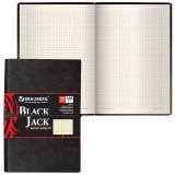 Бизнес-блокнот BRAUBERG (БРАУБЕРГ) А6, 100-150 мм, «BLACK JACK» («Блек Джек»), «гладая кожа»