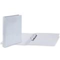 Папка 2 кольца BRAUBERG, картон/ПВХ, с передним прозрачным карманом, 50мм, белая, до 300 листов