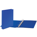 Папка 4 кольца BRAUBERG, картон/ПВХ, с передним прозрачным карманом, 50мм, синяя, до 300 листов