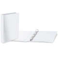 Папка 4 кольца BRAUBERG, картон/ПВХ, с передним прозрачным карманом, 65мм, белая, до 400 листов