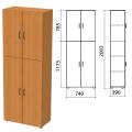 Шкаф закрытый «Фея», 740-390-2000 мм, цвет орех милан (КОМПЛЕКТ)