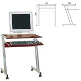 Стол компьютерный на металлокаркасе, 640-400-734, ЛДСП, цвет «орех»