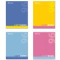 Тетрадь 96 л. BRAUBERG «Pro» (БРАУБЕРГ «Про»), офсет 60 г/м, клетка, обложка мелованный картон, «OneColour» («Один цвет»), 4 вида