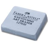 Резинка стирательная профессиональная FABER-CASTELL для ч./гр. карандаша, угля, пастели, серая