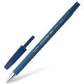 Ручка шариковая ZEBRA Rubber 80, корпус soft-touch, узел 0,7мм, линия 0,5мм, синяя, R-8000-BL