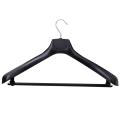 Вешалка-плечики универсальная, пластиковая, р. 50-52, длина 48 см, ширина 6,5 см, цвет черный